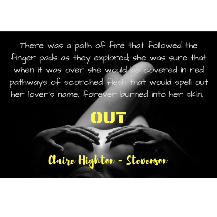 There was a path of fire that followed the finger pads as they explored; she was sure that when it was over she would be covered in red pathways of scorched flesh that would spell out he